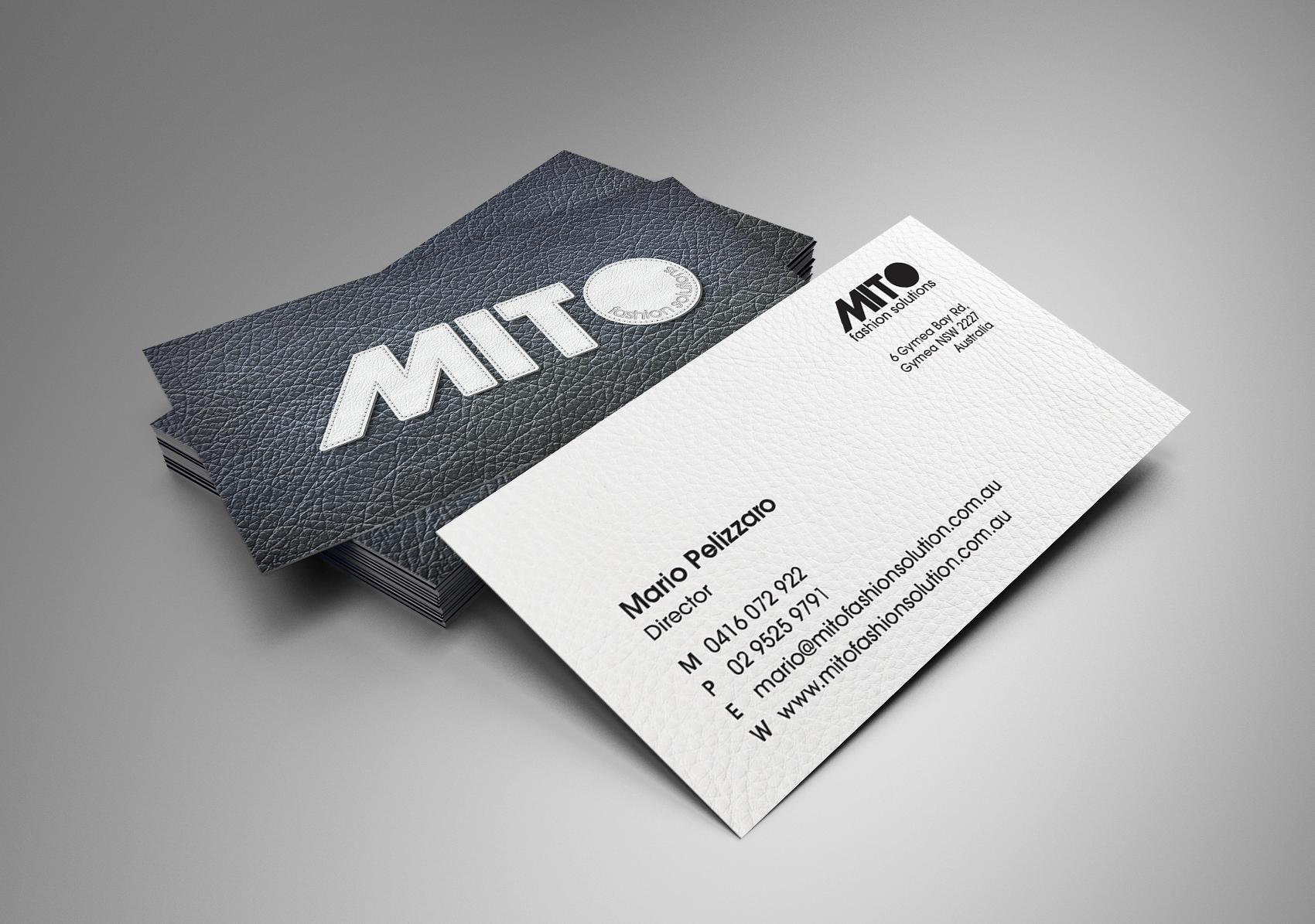 Mito fashion solution business cards kooka creative colourmoves